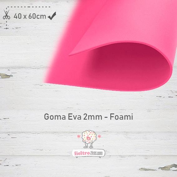 Goma Eva Fuchsia 40x60cm y 2mm.