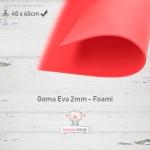 Goma Eva Rojo 40x60cm y 2mm.