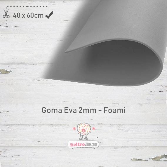 Goma Eva Gris 40x60cm y 2mm.
