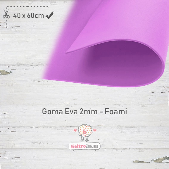 Goma Eva Violeta 40x60cm y 2mm.