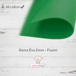 Goma Eva Verde Musgo 40x60cm y 2mm.