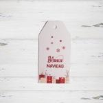 Etiquetas Impresas Blanca Navidad