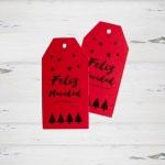 Etiquetas Impresas Feliz Navidad