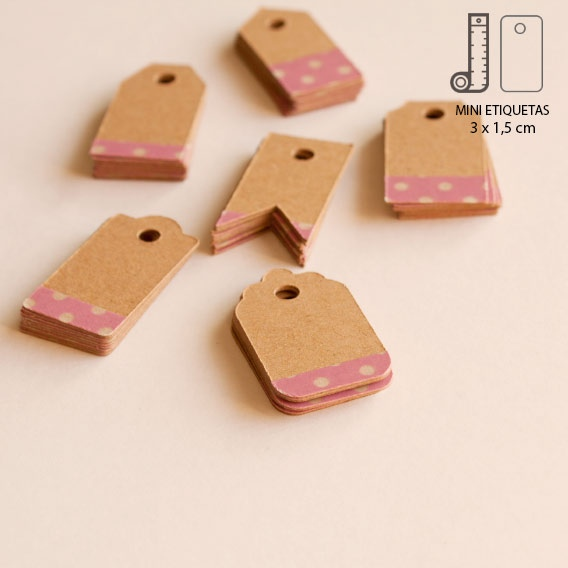 Etiquetas Mini Kraft Washi Tape Lunares