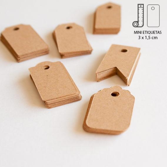 Etiquetas Mini Kraft