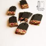 Etiquetas Mini Negras Washi Tape Corazones