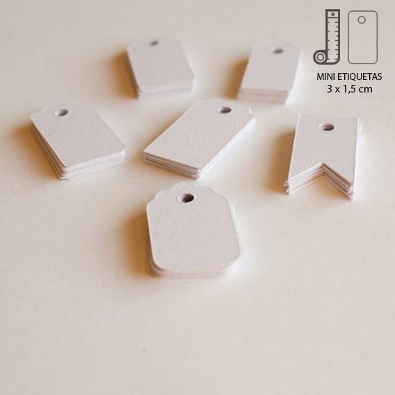 Etiquetas Mini Blancas