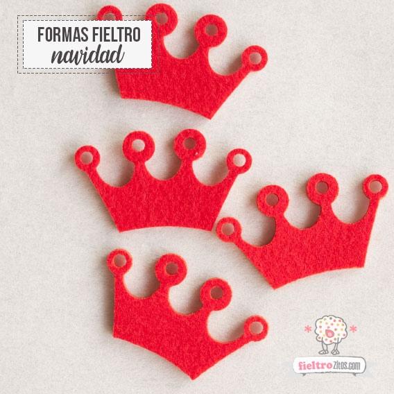 Coronas de Navidad en fieltro Rojo