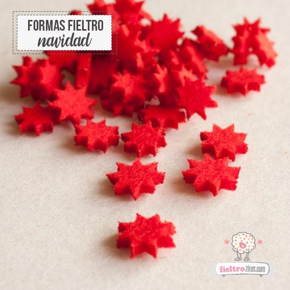 Estrellitas Fieltro Rojo