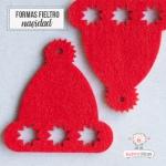 Gorros de Navidad en fieltro Rojo