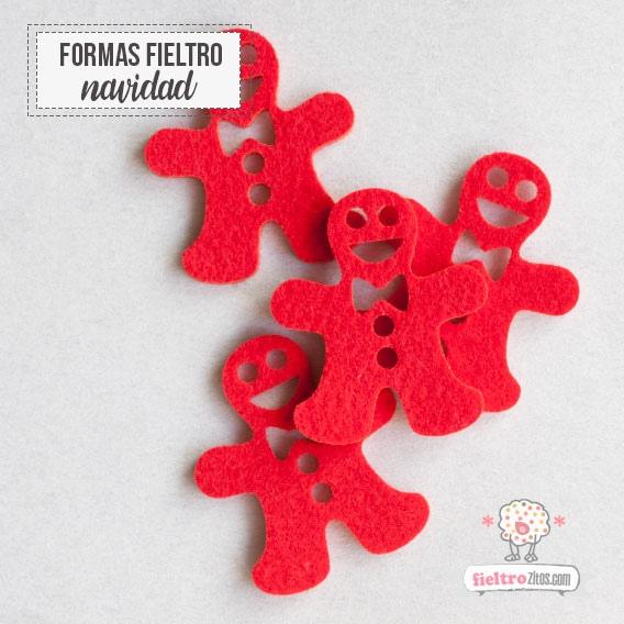 Inocente Navidad en fieltro Rojo