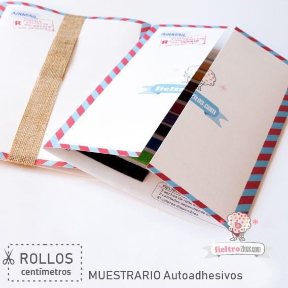 Muestrario Rollos Fieltros Autoadhesivos