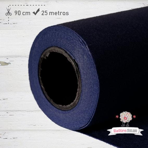 Fieltro Rollo Azul Noche 1mm.