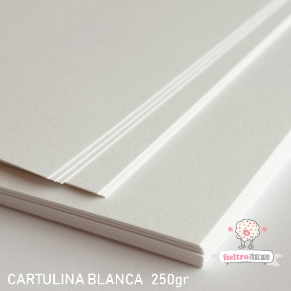 Cartulina Blanca Premium 250gr.