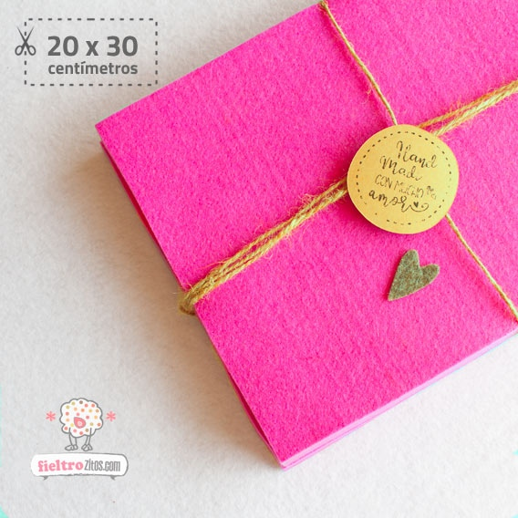 Fieltro Rosa Chicle Fashion 2mm (20x30cm)