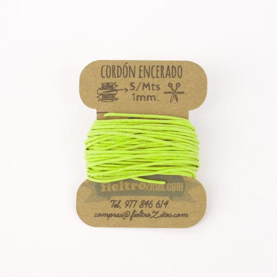 Cordón Encerado Pistacho 1mm. (5 Metros)