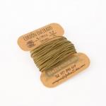 Cordón Encerado Verde Mili 1mm. (5 Metros)