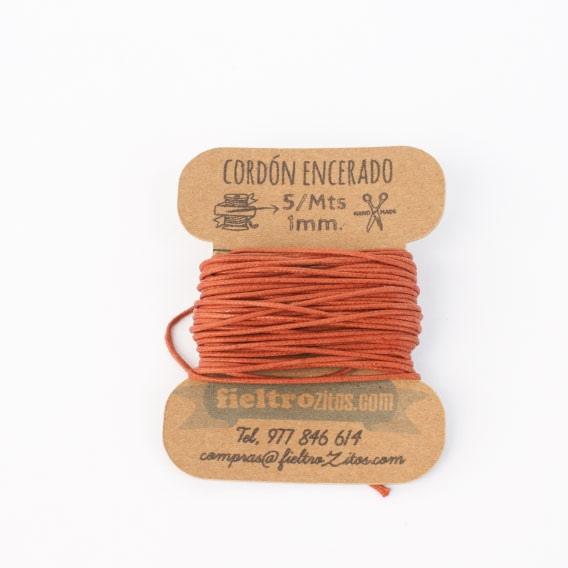 Cordón Encerado Cobre 1mm. (5 Metros)