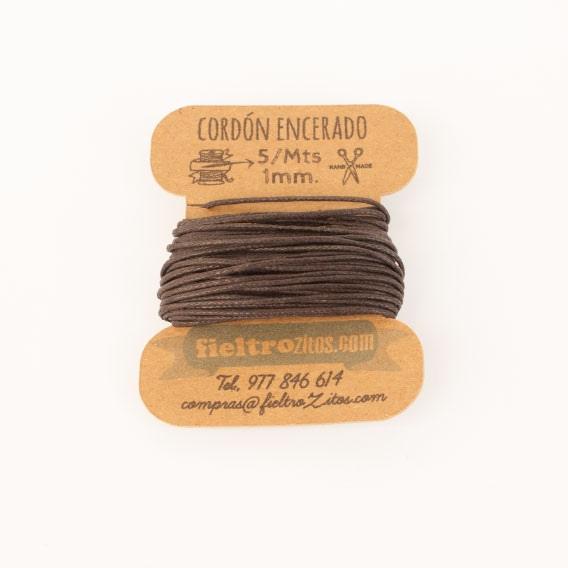 Cordón Encerado Chocolate 1mm. (5 Metros)