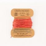 Cordón Encerado Rojo 1mm. (5 Metros)