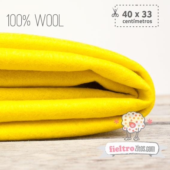 Fieltro 100% Lana Amarillo (40x33cm)