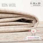 Fieltro 100% Lana Jaspe Beige (50x30cm)