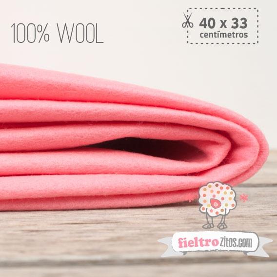 Fieltro 100% Lana Rosa (40x33cm)