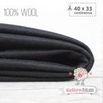 Fieltro 100% Lana Negro  (40x33cm)