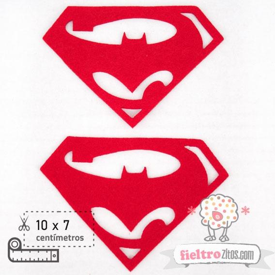 2 Formas Fieltro Escudo Batman