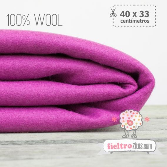 Fieltro 100% Lana Magenta (40x33cm)