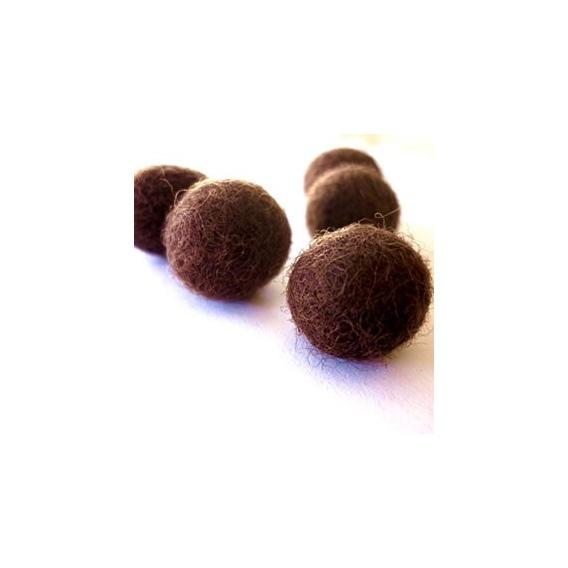 Abalorios Fieltro Bolas Chocolate.
