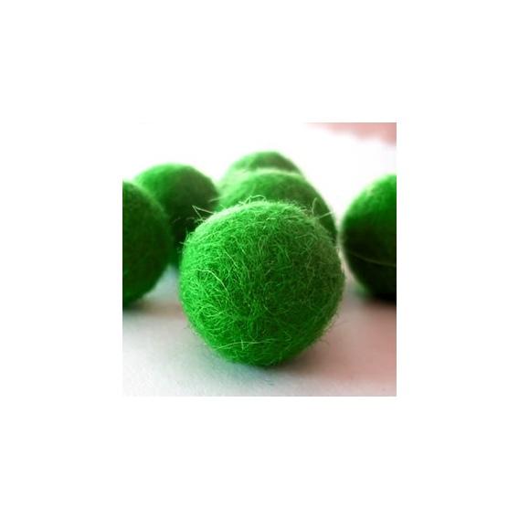 Abalorios Fieltro Bolas Verde Oscuro