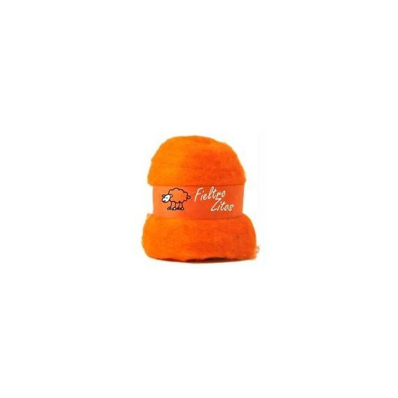 Fieltro Lana Naranja 10grs