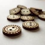 Botones Madera Redondos. (5Unds)