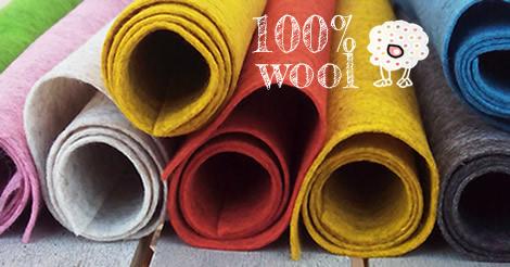 Fieltro Wool auténtico para trabajos delicados y perfectos proyectos de manualidades